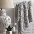 Argyle Linen Throw Rug by Private Collection