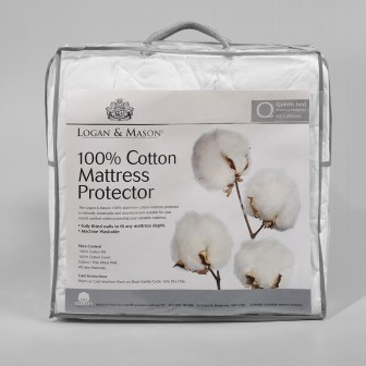 Cotton Mattress-Pillow Protectors by Logan & Mason