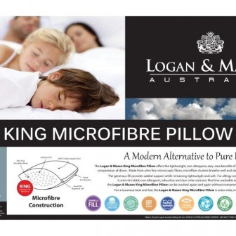 King Blended Microfibre Pillow by Logan & Mason