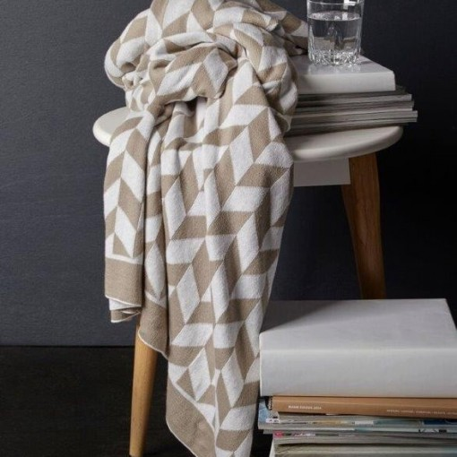 Pixel Linen Throw Rug by Royal Doulton
