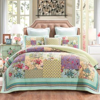 cosmic_floral coverlet